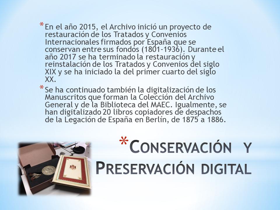Conservación y preservación digital