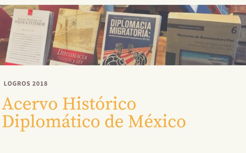 Logros del Acervo Histórico Diplomático de México – 2018