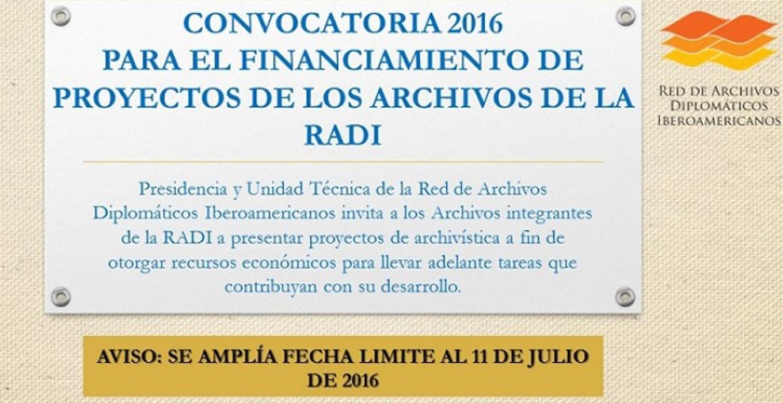 Aviso: Convocatoria para el financiamiento de proyectos RADI 2016