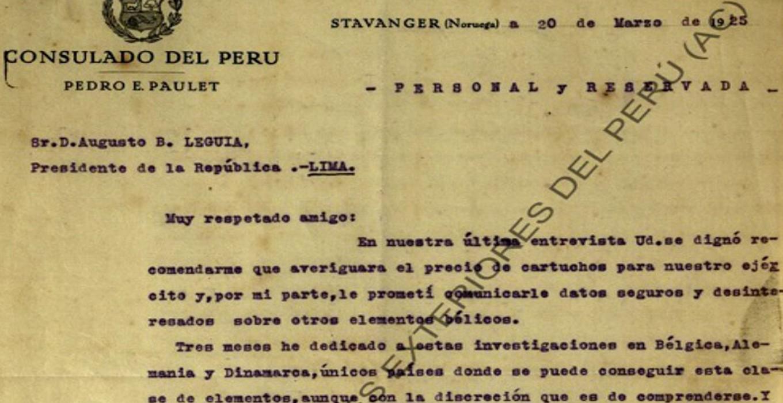 """Catálogo electrónico """"Archivo particular del presidente Augusto B. Leguía"""""""
