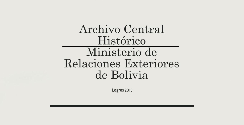 Bolivia: Logros 2016