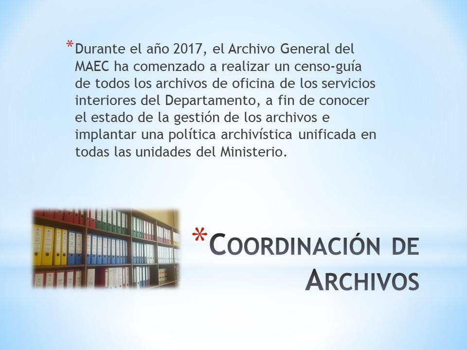 Coordinación de archivos