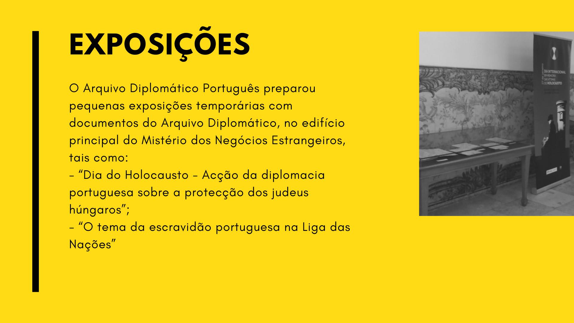 Logros del Archivo Diplomático de Portugal - 2018
