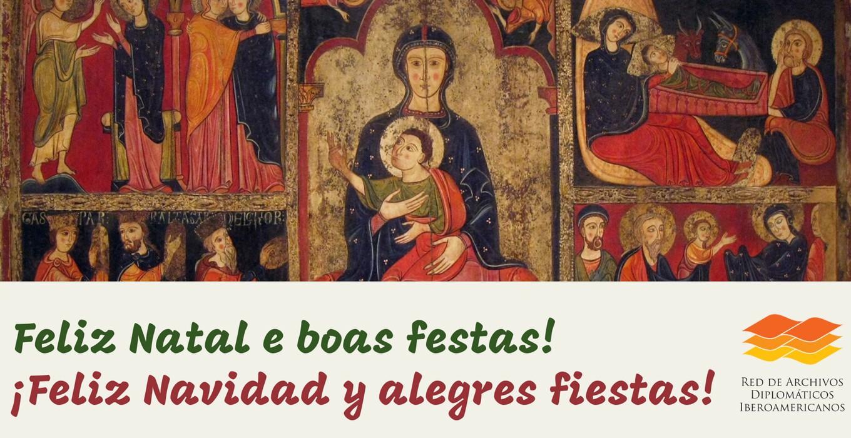 Feliz Navidad y alegres fiestas