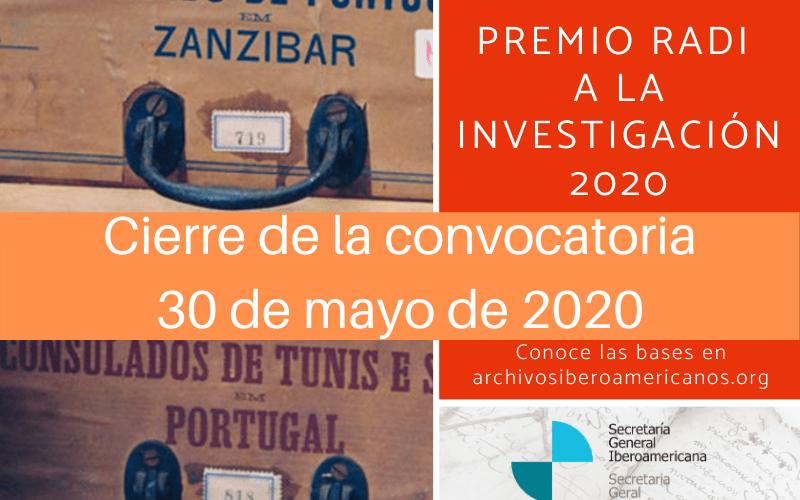 Premio RADI a la Investigación 2020 - cuarta edición